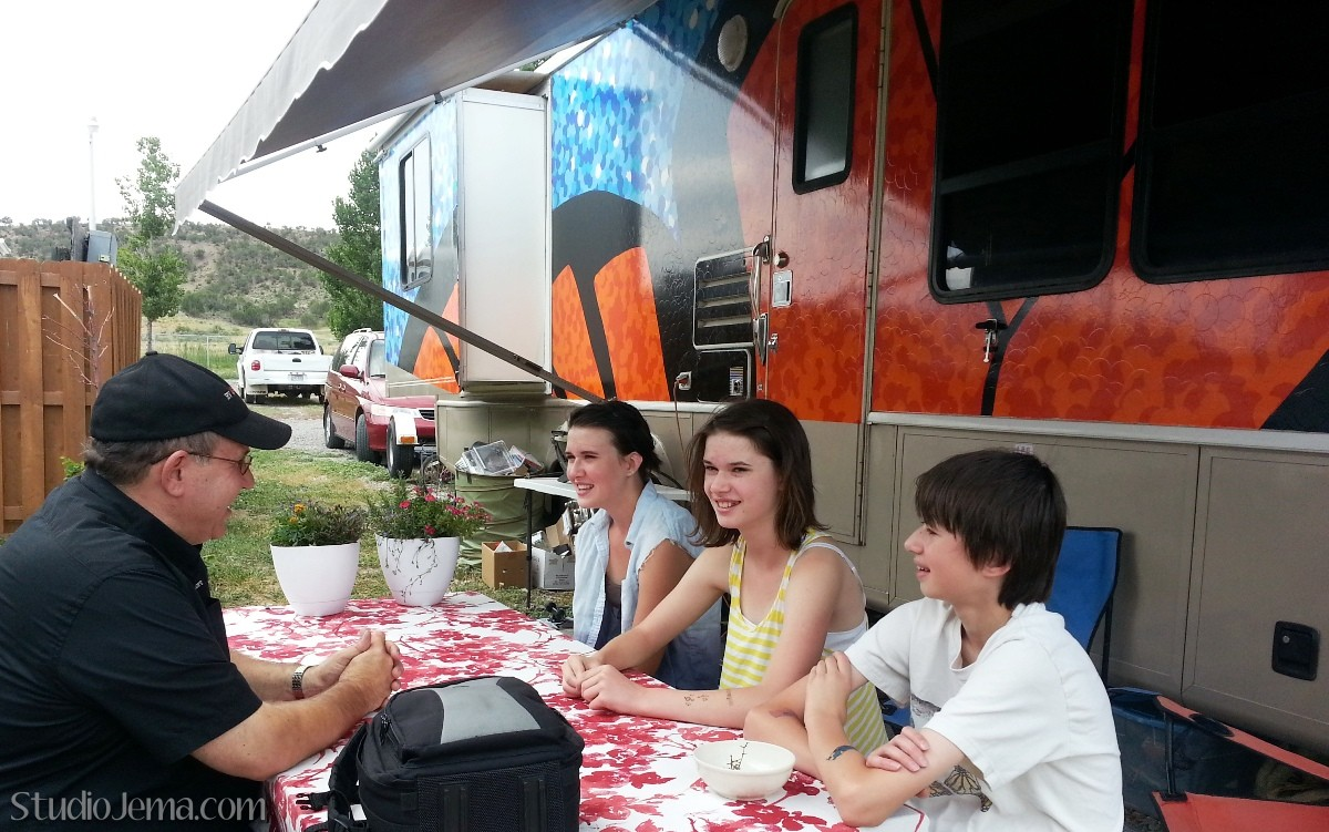 RVing with Teens and Tween interview with three kids and editor Greg Gerber of RV Daily Report