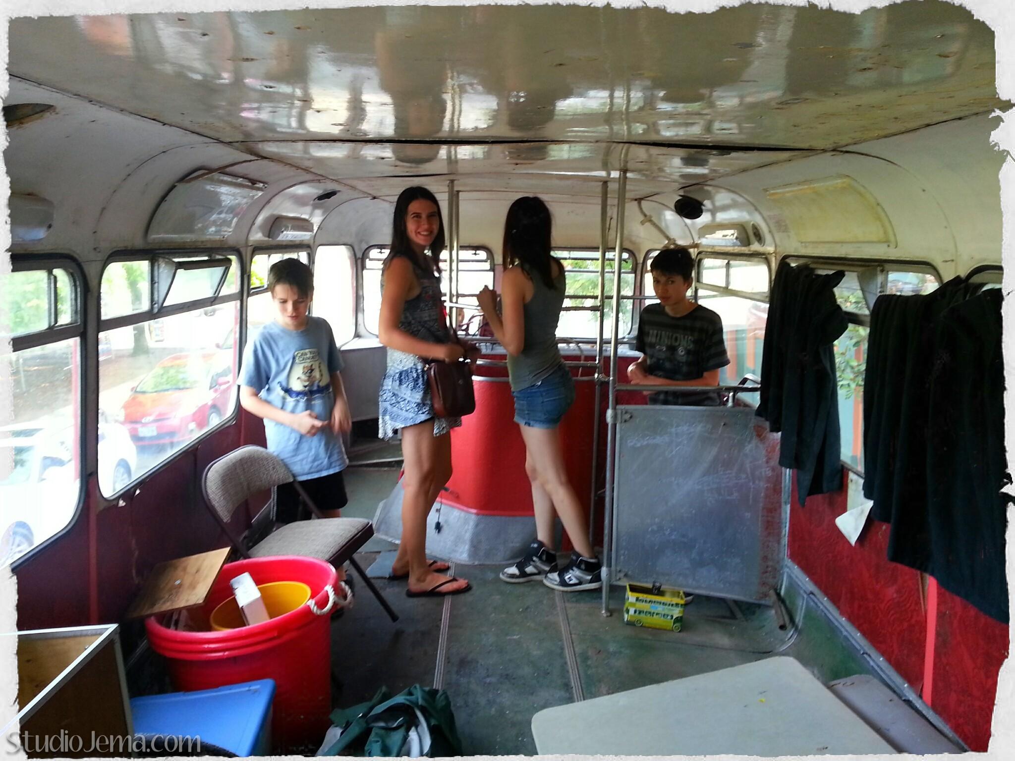 Double-Decker Bus on Alberta Street in Portland - Gypsy Jema