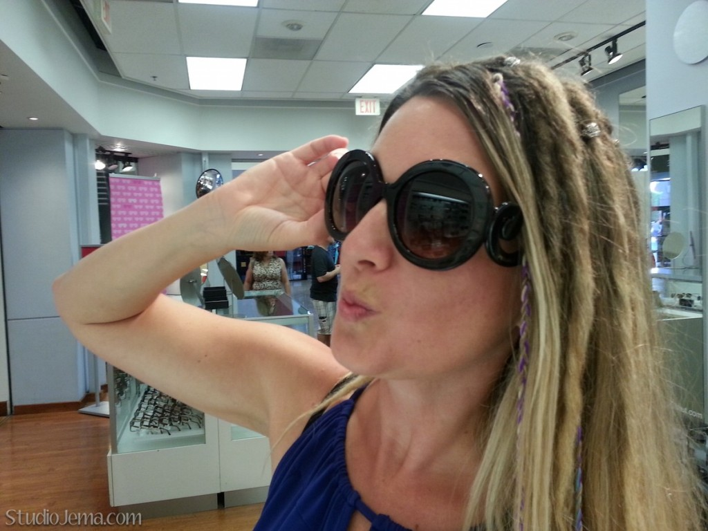 Jema with sunglasses