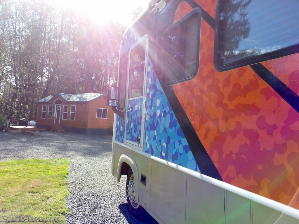 Orange butterfly RV