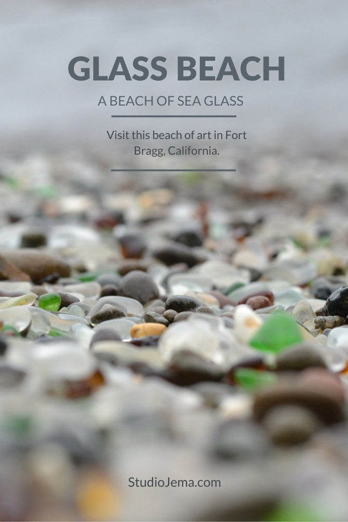A sea glass beach of art to visit.