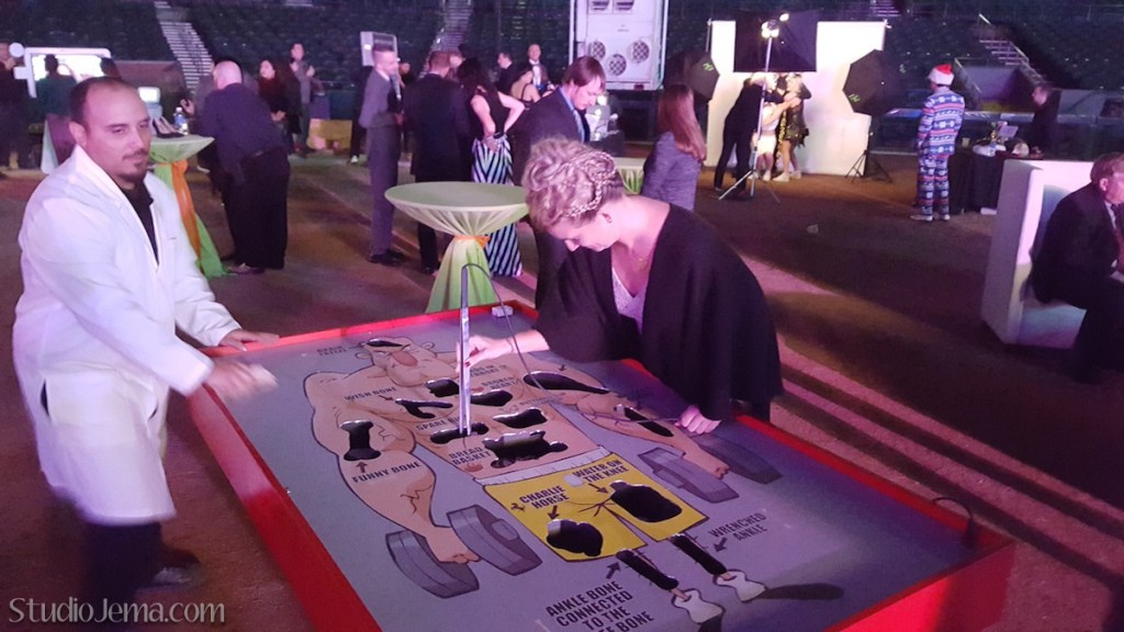 Giant Operation game at GoDaddy Christmas Party