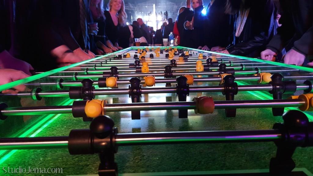 Giant foosball table at GoDaddy Christmas Party in Phoenix, AZ