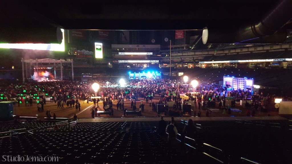 GoDaddy Christmas party at Chase Field